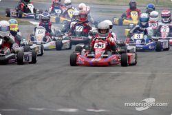 Formula Yamaha Junior pole winner #44-Matthew Lee heads 26 racers to the green flag