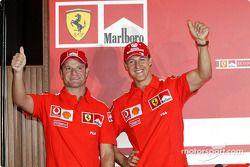 Conférence de presse : Rubens Barrichello et Michael Schumacher