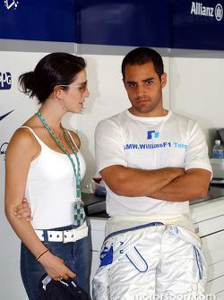 Juan Pablo Montoya y su esposa,Connie