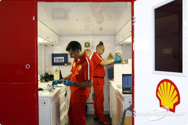 Ferrari fuel lab