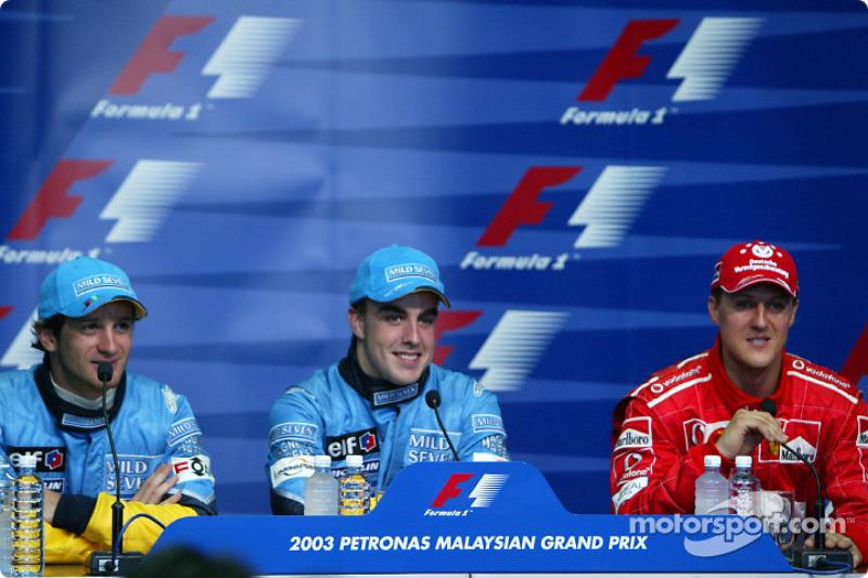 3. Fernando Alonso, Renault, GP da Malásia de 2003: 21a 07m 23d