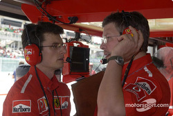 Chris Dyer and Ross Brawn