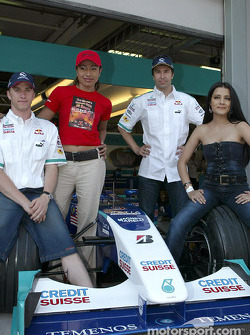 Nick Heidfeld and Heinz-Harald Frentzen in charming company