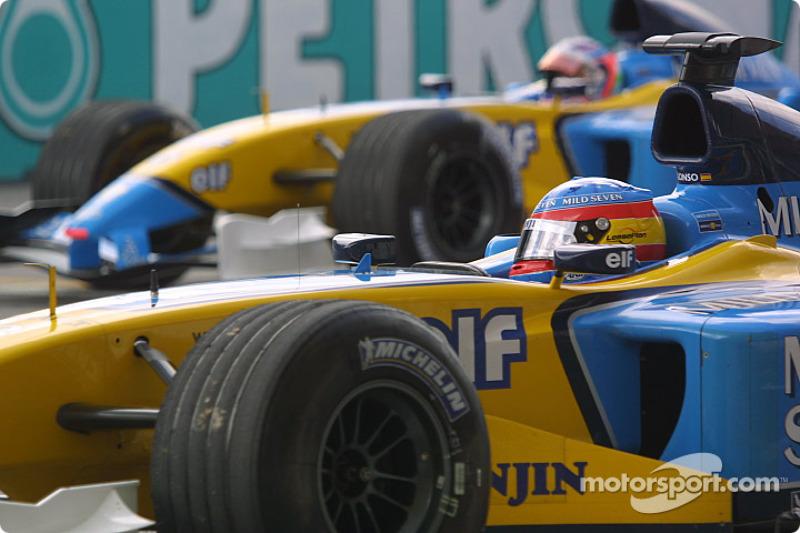 3: Fernando Alonso (Renault) 21 07 22, Malaysia 2003