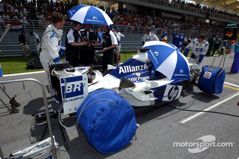 Team Williams-BMW sur la grille de départ