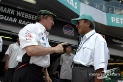 Jackie Stewart with Malaysian Prime Minister Datuk Seri Dr Mahathir