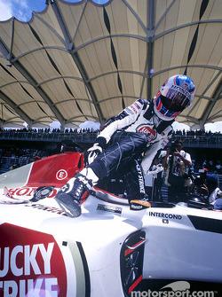 Jenson Button sur la grille de départ
