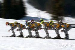 Fit for DTM 2003: Timo Scheider, Joachim Winkelhock, Alain Menu, Jeroen Bleekemolen, Manuel Reuter, Marcel Tiemann, Peter Dumbreck