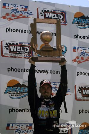 Dave Steele on victory lane