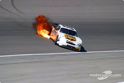 Dale Jarrett refires the engine