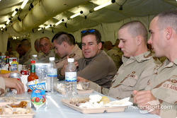 Jerry Nadeau visits the US troops in Afghanistan