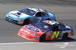 Jimmy Spencer y Jeff Gordon