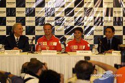 Bridgestone basın toplantısı: Rubens Barrichello ve Felipe Massa