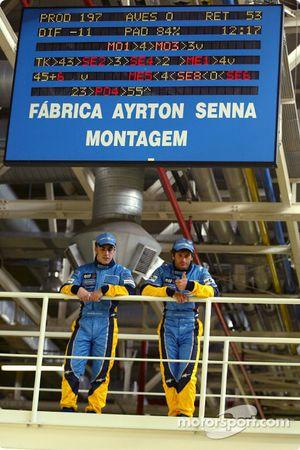 Visit, Ayrton Senna Renault Faktöry Curitiba: Fernando Alonso ve Jarno Trulli