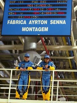 Visita a la fábrica Renault Ayrton Senna en Curitiba: Fernando Alonso y Jarno Trulli