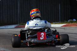 Sesión de karting con Juan Pablo Montoya