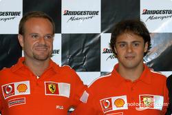 Conferencia de prensa Bridgestone: Rubens Barrichello y Felipe Massa