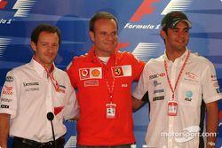 Conferencia de prensa del jueves: Cristiano da Matta, Rubens Barrichello y Antonio Pizzonia