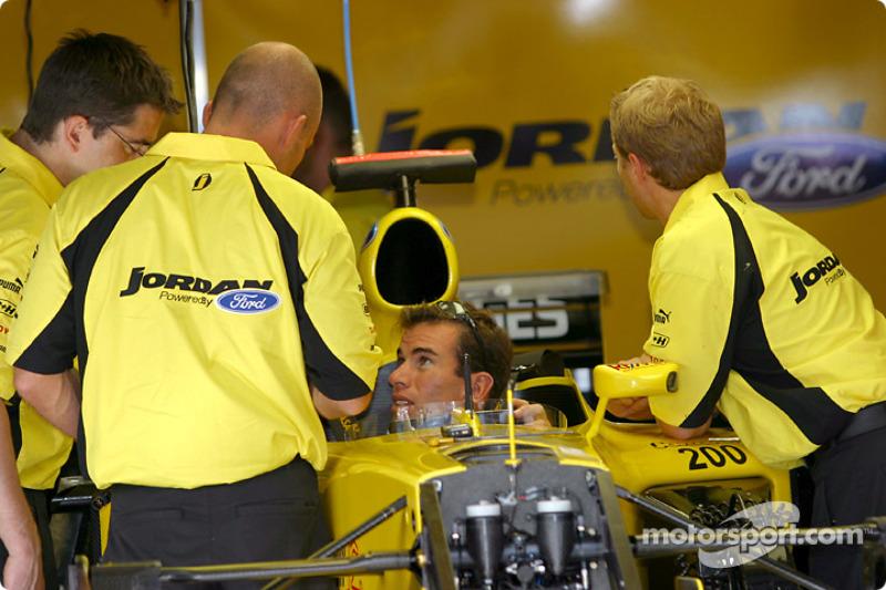Ralph Firman in Jordan garage
