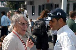 Bernie Ecclestone ve Juan Pablo Montoya