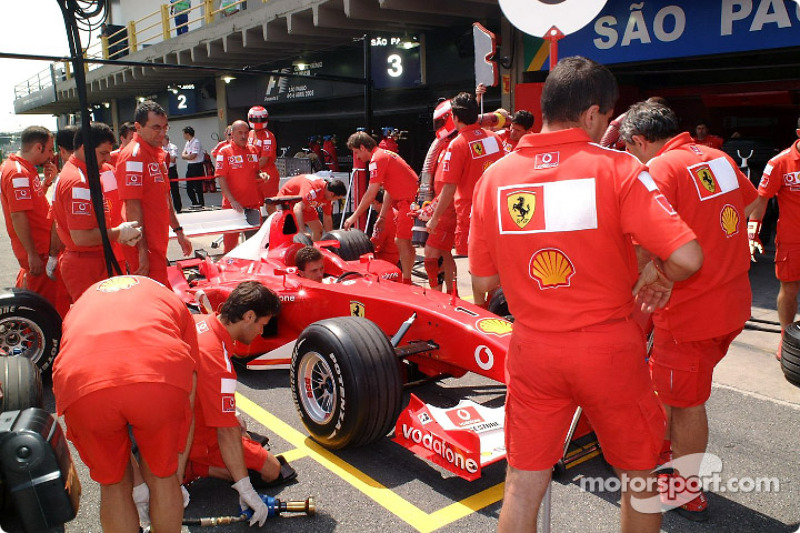 Pitstop simulation at Team Ferrari