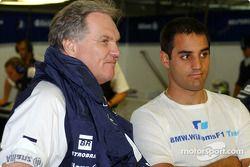 Patrick Head et Juan Pablo Montoya