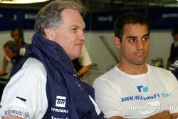 Patrick Head and Juan Pablo Montoya