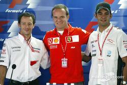 Thursday basın toplantısı: Cristiano da Matta, Rubens Barrichello ve Antonio Pizzonia
