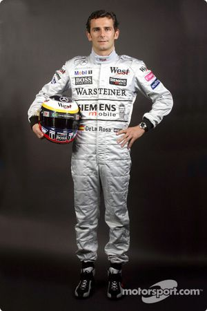 The new McLaren-Mercedes test driver Pedro de la Rosa