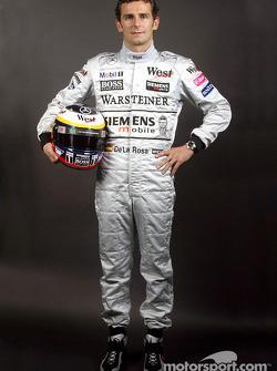 Le nouveau pilote d'essais McLaren-Mercedes Pedro de la Rosa