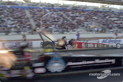Doug Kalitta with David Baca in the foreground
