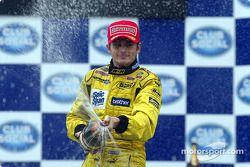 Podium : champagne pour Giancarlo Fisichella