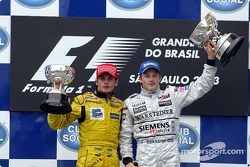 Podium : Giancarlo Fisichella et Kimi Raikkonen