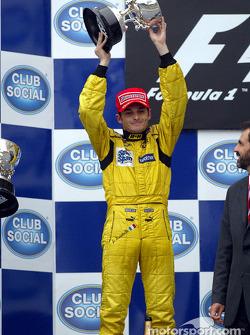 Podio: segundo lugar Giancarlo Fisichella