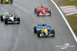 Jarno Trulli, Ralf Schumacher and Michael Schumacher