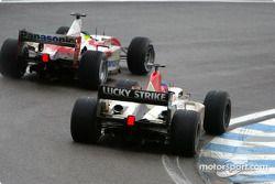 Cristiano da Matta, Toyota, et Jacques Villeneuve, BAR