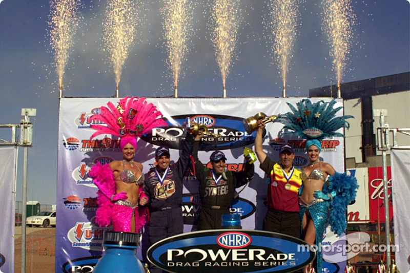 The Pro winners, Larry Dixon, Tony Pedregon and Greg Anderson