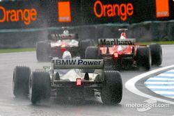 David Coulthard, Michael Schumacher et Ralf Schumacher