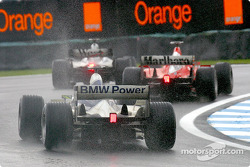 David Coulthard, Michael Schumacher y Ralf Schumacher