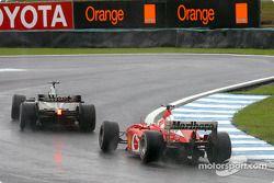 David Coulthard et Rubens Barrichello