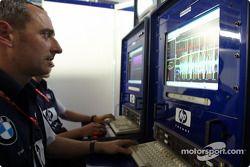 Williams-BMW telemetry center