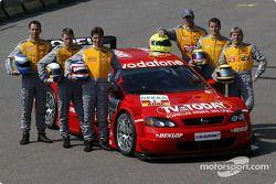 Die Opel-Fahrer 2003: Manuel Reuter, Alain Menu, Joachim Winkelhock, Jeroen Bleekemolen, Timo Scheid