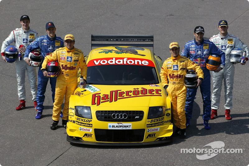 Die Audi-Fahrer 2003: Laurent Aiello, Christian Abt, Mattias Ekström, Karl Wendlinger, Martin Tomczy