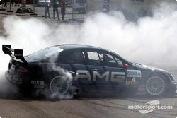 Smoke show for Jean Alesi