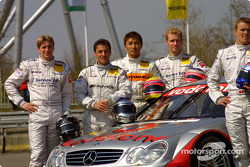 Christijan Albers, Jean Alesi, Katsutomo Kaneishi and Stefan Mücke