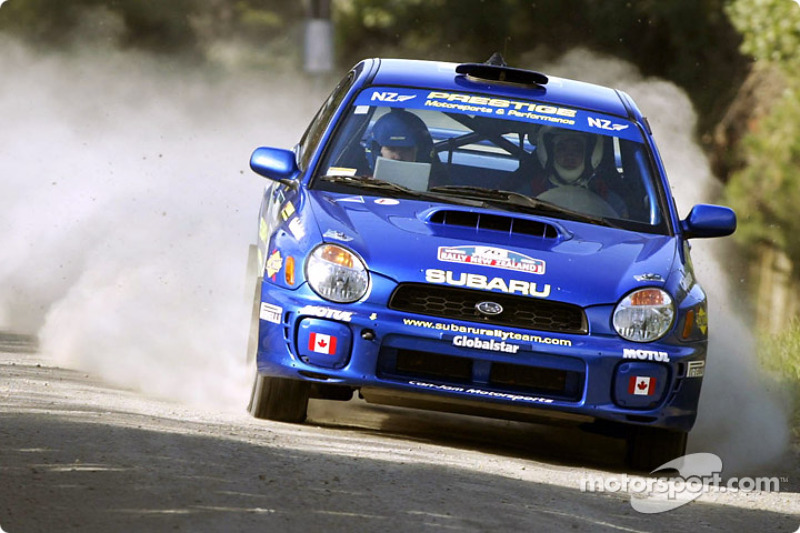 Пэт Ричардс и Микаэль Йоханссон Subaru Rally Team Canada Impreza