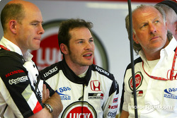 Jock Clear, Jacques Villeneuve and David Richards