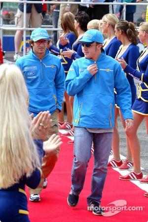 Presentación de Pilotod: Jarno Trulli y Fernando Alonso