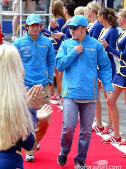 Présentation des pilotes : Jarno Trulli et Fernando Alonso