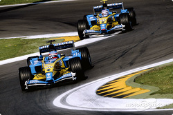 Fernando Alonso et Jarno Trulli